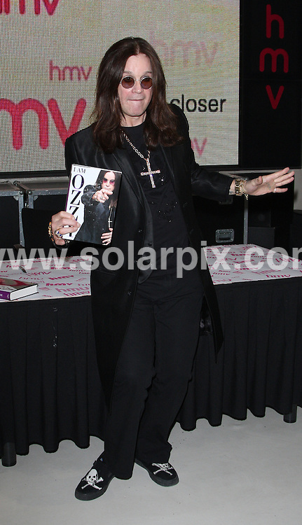 **ALL ROUND PICTURES FROM SOLARPIX.COM**.**WORLDWIDE SYNDICATION RIGHTS**.Ozzy Osbourne meets fans at HMV's Oxford Street store on Friday 2 October 2009. The 'Godfather of heavy metal',  visits HMV's flagship store in London's West End to celebrate the release of his new book, 'I Am Ozzy..JOB REF:   10053    LNJ     DATE: 02.10.09.**MUST CREDIT SOLARPIX.COM OR DOUBLE FEE WILL BE CHARGED**.**MUST NOTIFY SOLARPIX OF ONLINE USAGE**.**CALL US ON: +34 952 811 768 or LOW RATE FROM UK 0844 617 7637**
