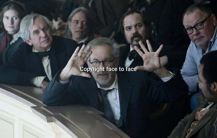 Steven Spielberg on the set of Lincoln (German title: LINCOLN)...- Editorial Use Only -..Supplied by face to face