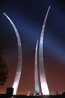 Arlington, Va., on Oct. 18, 2006<br /> <br /> 	The stainless steel spires of the U.S. Air Force Memorial soar in the night sky in Arlington, Va., on Oct. 18, 2006.  The memorial pays tribute to and honors the patriotic men and women of the U.S. Air Force and its predecessor organizations.  DoD photo by Tech. Sgt. Christopher J. Matthews, U.S. Air Force.  (Released)
