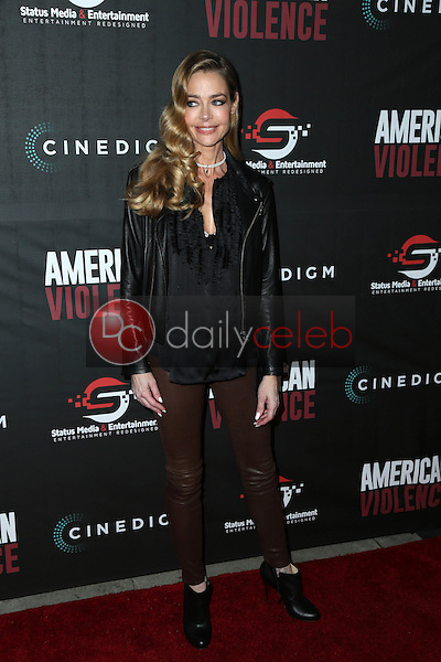 """Denise Richards<br /> at the """"American Violence"""" World Premiere, Egyptian Theater, Hollywood, CA 01-25-17<br /> David Edwards/DailyCeleb.com 818-249-4998"""
