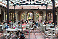 Branca Patio in the Johnson Student Center, on April 3, 2013. (Photo by Marc Campos, Occidental College Photographer)
