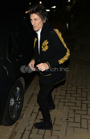 Ronnie Wood attending Rolling Stone Mick Jagger's Christmas party in London, UK.<br /> <br /> DECEMBER 13th 2018. Credit: Matrix/MediaPunch ***FOR USA ONLY***<br /> <br /> REF: LTN 184623