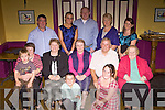 Family and friends of Hannah O'Connor from Tempelglantine (pictured centre) gathered to celebrate her 70th birthday in The Gables, Athea on Friday night..B L-R. Michael Daly, Natasha O'Connor, Noel O'Connor, Doreen McEnery, Caroline Daly..M L-R. Dylan O'Connor, Bridget O'Connor, Betty O'Connor, Hannah O'Connor, William O'Connor, Josie Newman..F L-R. Conor Daly, Emma Daly, .contact: 087 1220563 (Caroline Daly)