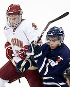 Paul Carey (BC - 22), David Mooney (Toronto - 28) - The Boston College Eagles defeated the visiting University of Toronto Varsity Blues 8-0 in an exhibition game on Sunday afternoon, October 3, 2010, at Conte Forum in Chestnut Hill, MA.