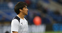 Leicester City's Shinji Okazaki during the pre-match warm-up <br /> <br /> Photographer Stephen White/CameraSport<br /> <br /> The Premier League - Leicester City v Tottenham Hotspur - Thursday 18th May 2017 - King Power Stadium - Leicester <br /> <br /> World Copyright &copy; 2017 CameraSport. All rights reserved. 43 Linden Ave. Countesthorpe. Leicester. England. LE8 5PG - Tel: +44 (0) 116 277 4147 - admin@camerasport.com - www.camerasport.com<br /> <br /> Photographer Stephen White/CameraSport<br /> <br /> The Premier League - Leicester City v Tottenham Hotspur - Thursday 18th May 2017 - King Power Stadium - Leicester <br /> <br /> World Copyright &copy; 2017 CameraSport. All rights reserved. 43 Linden Ave. Countesthorpe. Leicester. England. LE8 5PG - Tel: +44 (0) 116 277 4147 - admin@camerasport.com - www.camerasport.com