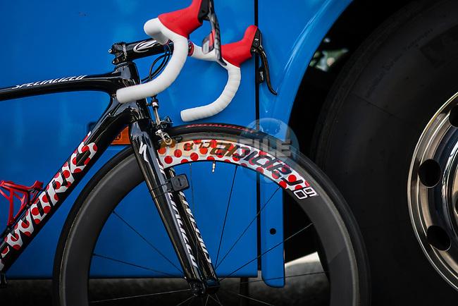 Specialized bike of Rafal Majka (POL,Tinkoff-Saxo), Tour de France, Stage 21: Évry > Paris Champs-Élysées, UCI WorldTour, 2.UWT, Paris Champs-Élysées, France, 27th July 2014, Photo by Pim Nijland