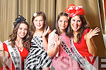 Washington Dc Rose Lauren Debueriis pictured with her Rosebud Anna McElligott and Abu Dhabi Rose Sara Moffatt pictured with her Rosebud Orfhlaith Ni Dhugain at the Carlton Hotel at the Rose of Tralee on Friday.