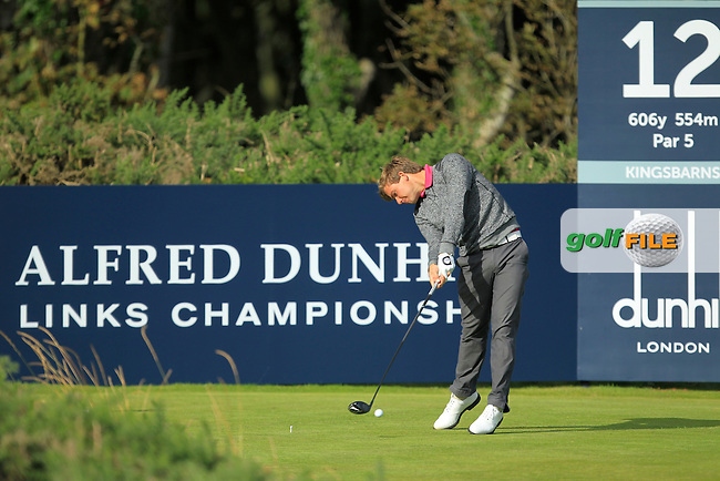 Haydn Porteous during Round 1of the Alfred Dunhill Links Championship at Kingsbarns Golf Club on Thursday 26th September 2013.<br /> Picture:  Thos Caffrey / www.golffile.ie