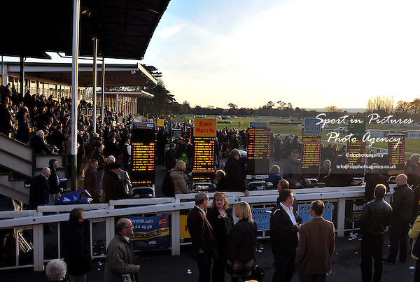 Punters enjoy their day out. Race 7. hardingscatering.co.uk Maiden Hurdle. Food & Drink Southern National Raceday. Fontwell Park Racecourse. West Sussex. 18/11/2012. MANDATORY Credit Garry Bowden/Sportinpictures - NO UNAUTHORISED USE - 07837 394578