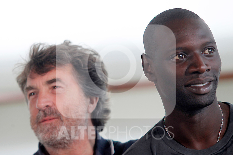 French actors Omar Sy (r) and Francois Cluzet during the 59th San Sebastian Donostia International Film Festival - Zinemaldia.September 24,2011.© Acero / ALFAQUI