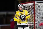 Uppsala 2013-11-13 Bandy Elitserien IK Sirius - IFK Kung&auml;lv :  <br /> Kung&auml;lv m&aring;lvakt David Borvall reagerar<br /> (Foto: Kenta J&ouml;nsson) Nyckelord:  portr&auml;tt portrait