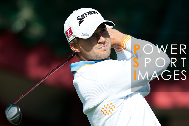 Rikard Kalberg in action during Round 2 of the UBS Hong Kong Golf Open 2011 at Fanling Golf Course in Hong Kong on 1st December 2011. Photo © Andy Jones / The Power of Sport Images