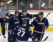 Philip Nyberg (UConn - 26), Maxim Letunov (UConn - 27), Tage Thompson (UConn - 29), Benjamin Freeman (UConn - 24) - The Boston College Eagles defeated the visiting UConn Huskies 2-1 on Tuesday, January 24, 2017, at Kelley Rink in Conte Forum in Chestnut Hill, Massachusetts.