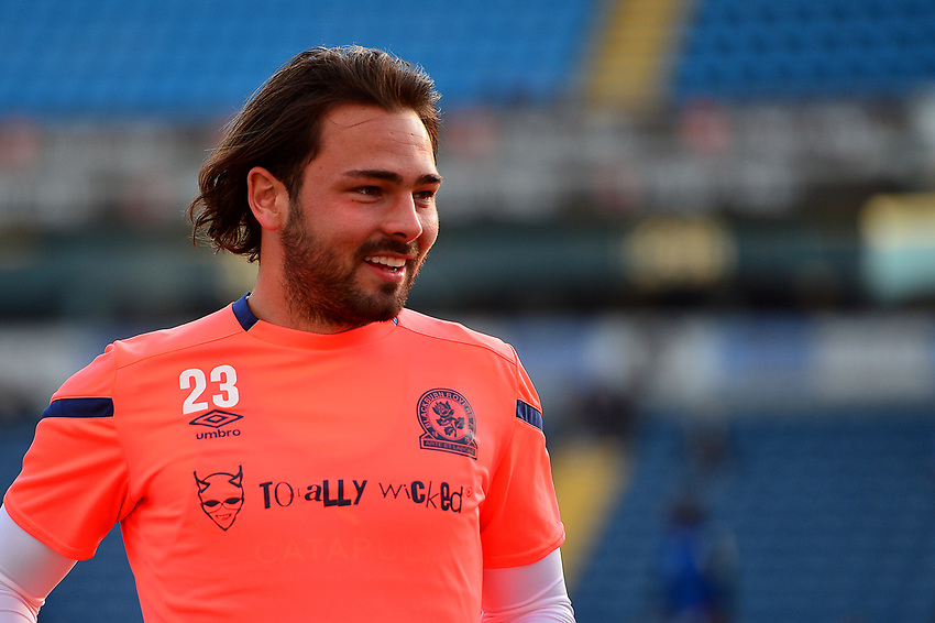 Blackburn Rovers' Bradley Dack warms up<br /> <br /> Photographer Richard Martin-Roberts/CameraSport<br /> <br /> The Carabao Cup First Round - Tuesday 13th August 2019 - Blackburn Rovers v Oldham Athletic - Ewood Park - Blackburn<br />  <br /> World Copyright © 2019 CameraSport. All rights reserved. 43 Linden Ave. Countesthorpe. Leicester. England. LE8 5PG - Tel: +44 (0) 116 277 4147 - admin@camerasport.com - www.camerasport.com