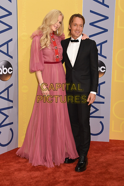 02 November 2016 - Nashville, Tennessee - Nicole Kidman, Keith Urban. 50th Annual CMA Awards. Then. Now. Forever Country. 2016 CMA Awards, Country Music's Biggest Night. Arrivals held at Music City Center. <br /> CAP/ADM/LF<br /> &copy;LF/ADM/Capital Pictures