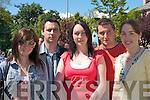 2803-2806.Emma Lawlor, Kildare, Ian Twiss, Paula Twiss, Derek Twiss and Leona Twiss Killorglin, enjoying the craic at the World Bodhran Championships in Milltown on Sunday...