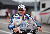 Sep 14, 2019; Mohnton, PA, USA; NHRAfunny car driver John Force during qualifying for the Reading Nationals at Maple Grove Raceway. Mandatory Credit: Mark J. Rebilas-USA TODAY Sports