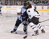 Lauren Helm (CC - 7), Julie Dachille (Bowdoin - 11) - The Babson College Polar Bears defeated the Connecticut College Camels 3-0 on Thursday, January 12, 2017, at Fenway Park in Boston, Massachusetts.