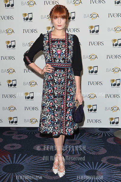 Florence Welch arriving for the 59th Ivor Novello Awards, at the Grosvenor House Hotel, London. 22/05/2014 Picture by: Alexandra Glen / Featureflash