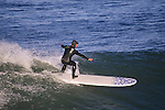 Surfer in San Francisco Bay, California