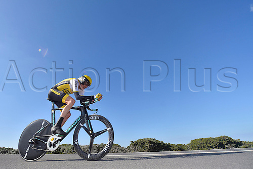19.02.2016. Sagres, Portual.  GESINK Robert (NED) Rider of TEAM LOTTO NL - JUMBO in action during stage 3 of the 42nd Tour of Algarve cycling race, an individual time trial of 18km, with start and finish in Sagres on February 19, 2016 in Sagres, Portugal.