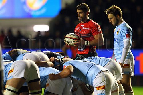 30.11.2013. Toulon, France. Top 14 rugby union. Toulon versus Perpignan.  sebastien tillous borde (rct)