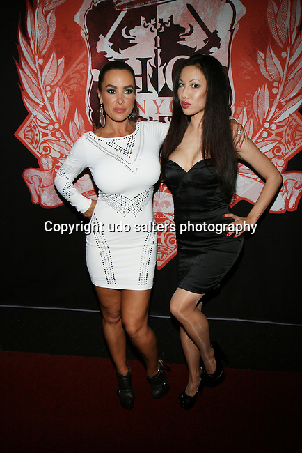 Lisa Ann and Jade Vixen Attend Adult Film Star Lisa Ann's Official NYC Birthday Celebration at Headquarters Gentlemen's Lounge, NY