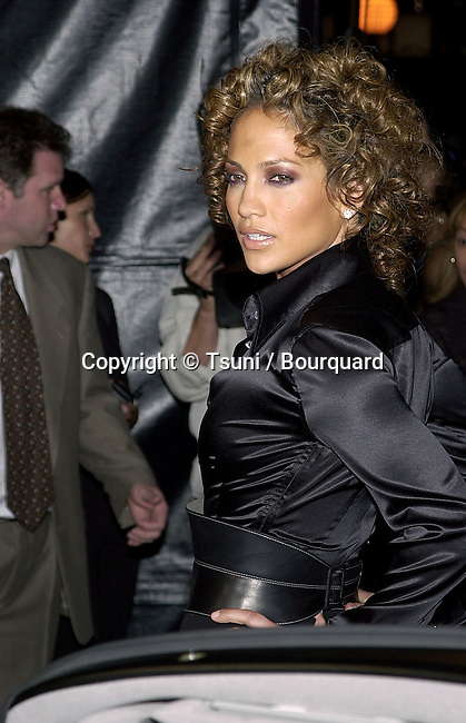 Jennifer Lopez posing  with the Jaguar at The magazine FHM salutes the 100 sexist women of the world at La Boheme cafe in Los Angeles 5/17/2001            -            LopezJennifer03.jpg