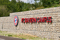 Logo *** Local Caption *** 21.08.2017, Football 1.Bundesliga 2017/2018, FC Bayern Muenchen launches Bayern Campus youth centrum near Allianzarena in Muenchen.<br /> <br /> © pixathlon +++ tel. +49 - (040) - 22 63 02 60 - mail: info@pixathlon.de