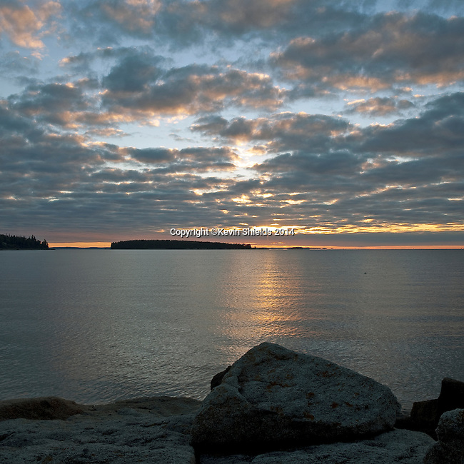 Dawn at Birch Point Beach State Park, Owls Head, Maine, USA