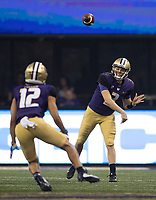 Jake Browning finds Aaron Fuller.  Browning finished an efficient evening completing 19 of 22 passes and four touchdowns.