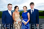 Enjoying the Killarney secondary schools Debs at Ballyroe Heights Hotel on Monday were Allan Lynch, Melissa Ferris, Grainne Dineen, Dara Lyon