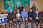 AWARDED: St Brendan's Hurling club, Ardfert was chosen as the 2011 Coiste na nÓg Chiarraí club of the year at the AGM in the Manor West Hotel, Tralee on Tuesday night. Front l-r: Tadhg Halloran (Coiste na nÓg), Justin Horgan (chairman, St Brendan's), Eamonn Whelan and Reggie Griffin (Coiste na nÓg) with Josephine O'Riordan (St Brendan's). Back l-r: Tom Keane (Coiste na nÓg), Siobhan Hussey (St Brendan's), Ger Hussey (Coiste na nÓg & St Brendan's), Tadhg O'Sullivan (Coiste na nÓg) and Geraldine Delaney (St Brendan's)..