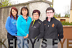 Aileen O'Connor, Margaret O'Connor, Laura Brosnan, Cian Brosnan at the Scoil Aogain Castleisland Good Friday Hospice Walk