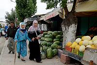 Tabarka, Tunisia, 18 Settembre 2018<br /> Donne al mercato