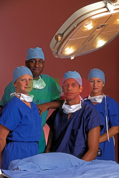 Portrait of doctors in operating room
