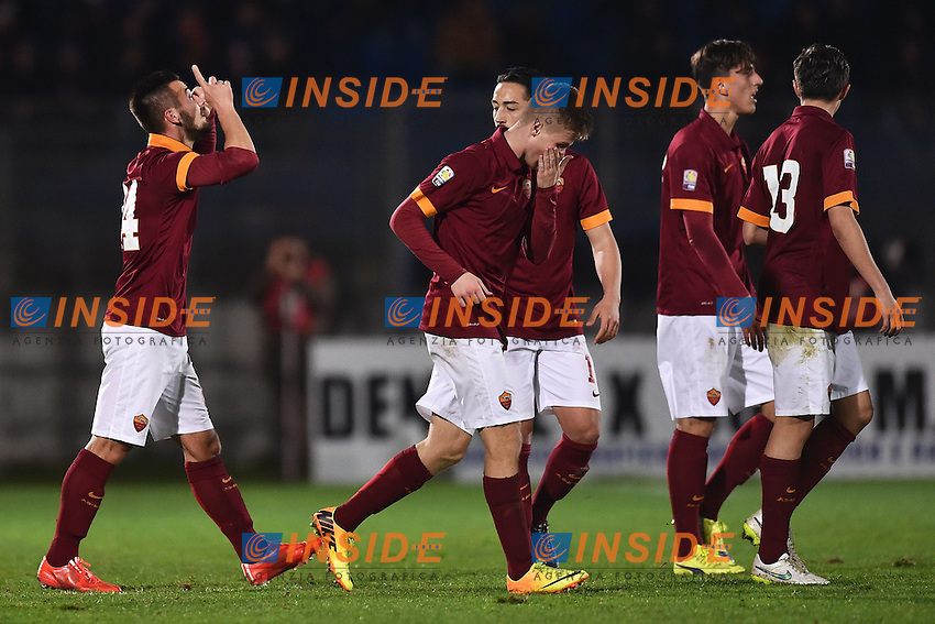 Esultanza Gol Tomas Vestenicky Roma 1-0 Goal celebration <br /> Latina 17-03-2015 Stadio Domenico Francioni Football Calcio Youth Champions League 2014/2015 AS Roma - Manchester City. Foto Andrea Staccioli / Insidefoto