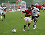 Sandhausen 19.04.2008, Andreas Buchner (Ingolstadt) und William Anane (SV Sandhausen) in der Regionalliga S&uuml;d 2007/08 SV Sandhausen 1916 - FC Ingolstadt 04<br /> <br /> Foto &copy; Rhein-Neckar-Picture *** Foto ist honorarpflichtig! *** Auf Anfrage in h&ouml;herer Qualit&auml;t/Aufl&ouml;sung. Belegexemplar erbeten.