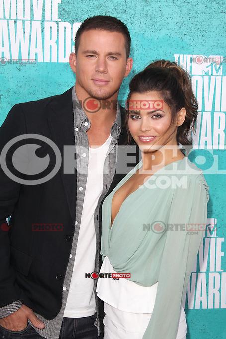 Channing Tatum and Jenna Dewan-Tatum at the 2012 MTV Movie Awards held at Gibson Amphitheatre on June 3, 2012 in Universal City, California. ©mpi29/MediaPunch Inc.