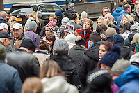 Hordes of shoppers and sightseers invade Fifth Avenue in Midtown Manhattan in New York on Sunday, December 11, 2016. Only fourteen more days until Christmas.  (© Richard B. Levine)