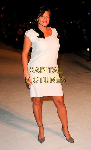 "JADE GOODY.""The Accidental Husband"" UK film premiere, Vue West End, London, England..February 13th 2008.full length white dress .CAP/CAN.©Can Nguyen/Capital Pictures."