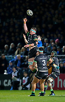 4th January 2020; RDS Arena, Dublin, Leinster, Ireland; Guinness Pro 14 Rugby, Leinster versus Connacht; Gavin Thornbury of Connacht wins the high ball - Editorial Use