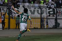 ATENÇÃO EDITOR: FOTO EMBARGADA PARA VEÍCULOS INTERNACIONAIS - SÃO PAULO, SP, 06 DE SETEMBRO DE 2012 - CAMPEONATO BRASILEIRO - PALMEIRAS x SPORT: Tiago Real comemora gol do Palmeiras durante partida Palmeiras x Sport Recife, válida pela 22ª rodada do Campeonato Brasileiro no Estádio do Pacaembú. FOTO: LEVI BIANCO - BRAZIL PHOTO PRESS