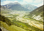 View of Silverton from highway.<br /> Silverton, CO