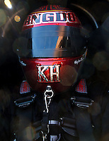 Mar 28, 2014; Las Vegas, NV, USA; NHRA top fuel dragster driver Shawn Langdon during qualifying for the Summitracing.com Nationals at The Strip at Las Vegas Motor Speedway. Mandatory Credit: Mark J. Rebilas-