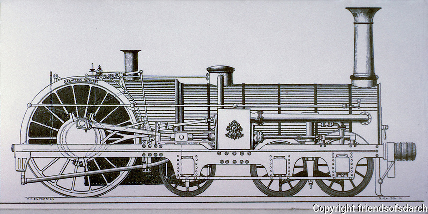 "Technology: Express Engine ""Liverpool"", 1851. Photo '74."