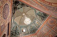 Uzbekistan, Samarqand. Shah-i-Zinda Ensemble. Mausoleum of Kusam ibn Abbas.