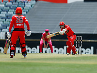 2nd November 2019; Western Australia Cricket Association Ground, Perth, Western Australia, Australia; Womens Big Bash League Cricket, Melbourne Renegades versus Sydney Sixers; Tammy Beaumont of the Melbourne Renegades plays through midwicket - Editorial Use