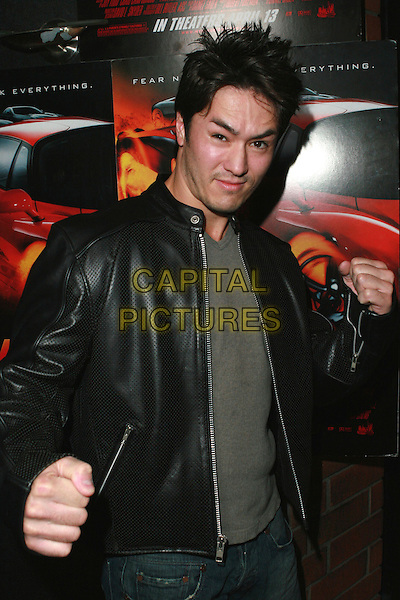 "JASON YEE .Redline Premiere Party, ""Myspace For Myfriends"" held at Aura Nightclub, Studio City, California, USA.  .April 18th, 2007.half length black leather jacket fists.CAP/ADM/CH.©Charles Harris/AdMedia/Capital Pictures"
