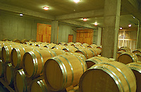 The Oremus winery in Tolcsva, Tokaj: The wood aging cellar with new oak barrels for the not sweet wines. Oremus is owned by the Alvarez family that also owns Vega Sicilia in Spain It is managed by Andras Bacso. Credit Per Karlsson BKWine.com